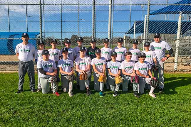 2017-18 Middle School Baseball Team