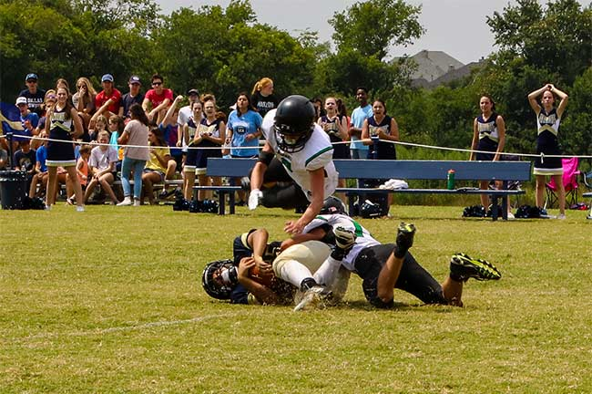 DCA's defense takes down the opponent.