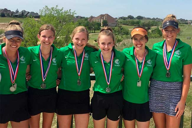 Girls Golf Team at TAPPS State Golf Tournament