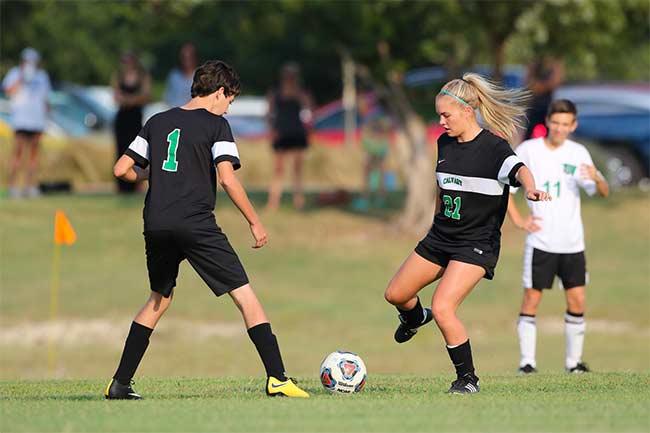 Denton Calvary Soccer Kick