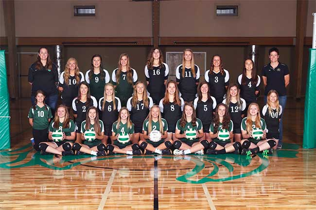 Denton Calvary High School Volleyball Team