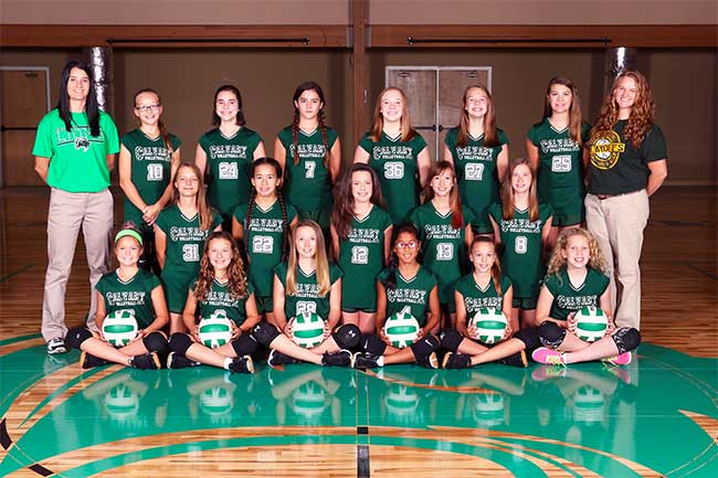 2017-18 Middle School Volleyball Team