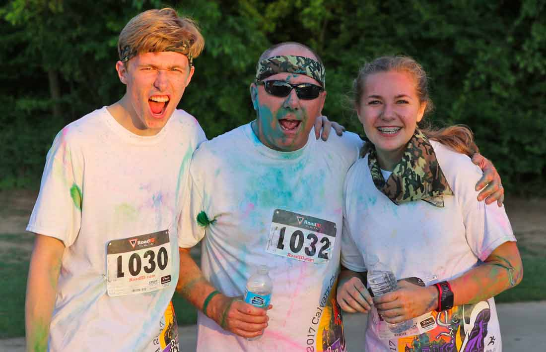 DCA Calvary Challenge Color Runners