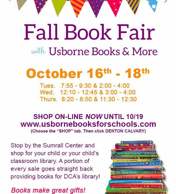 Book Fair Scheduled for October