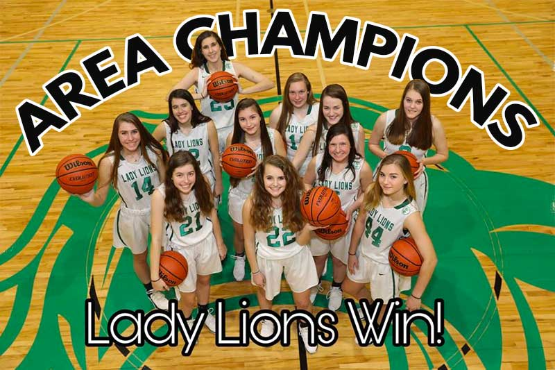 Lady Lions Win Area Title!