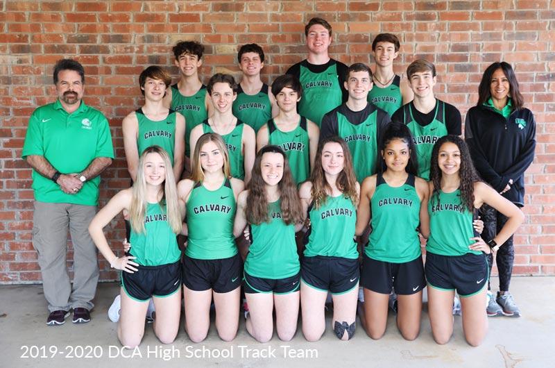 Denton Calvary Academy High School Track Team 2019-20