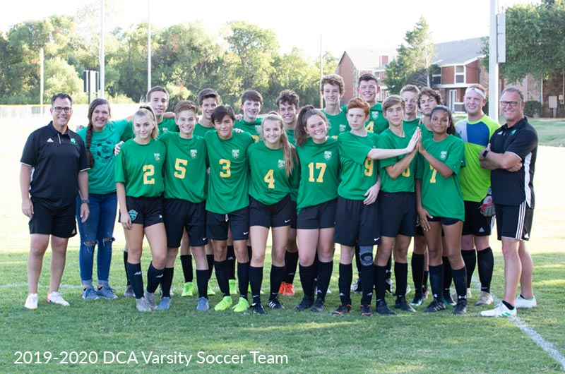 Denton Calvary Academy Varsity Co-ed Soccer Team for 2019-2020