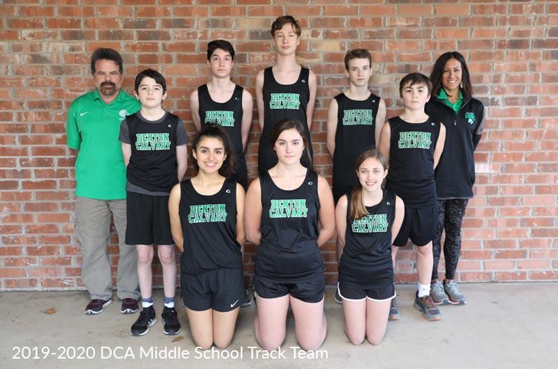 Denton Calvary Academy Middle School Track Team 2019-20