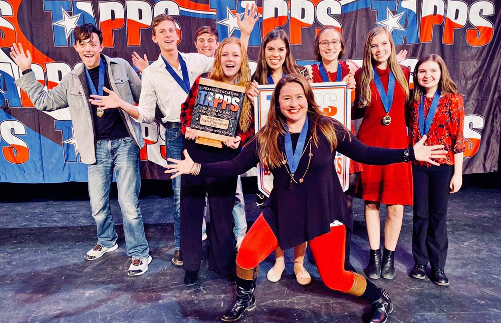 Denton Calvary Academy Drama Club Wins TAPPS One Act Play Championship in Fall 2019.
